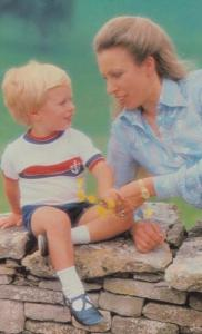 Princess Anne With Child Peter 1980 Royal Postcard
