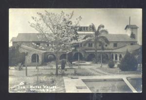 RPPC C. VALLES S.L.P. MEXICO HOTEL VALLES VINTAGE REAL PHOTO POSTCARD