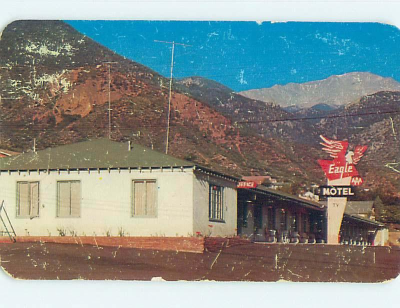 1950's EAGLE MOTEL Manitou Springs Colorado Colorado CO j6364