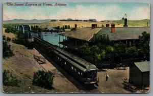 Postcard Yuma AZ c1920s Sunset Express Southern Pacific Railroad
