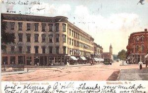 Main Street Gloversville, New York Postcard