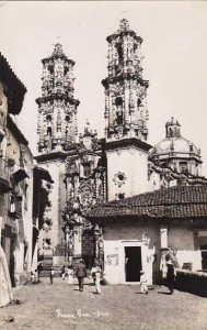 Mexico Taxco Street Scene & Cathedral Real Photo
