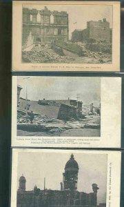 pc9240 postcard San Francisco Earthquake THREE all MOBSC