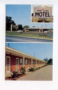 Fort Lawn SC Fort Lawn Motel on US 21 and SC 9 old Cars Postcard