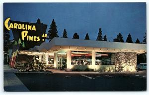 Postcard CA Hollywood Carolina Pines JR Restaurant Coffee Shop R12