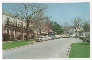 Shopping Center Cars Stony Brook Long Island New York 1960s postcard
