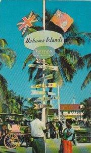 Bahamas Nassau Rawson Square Sign Post 1965