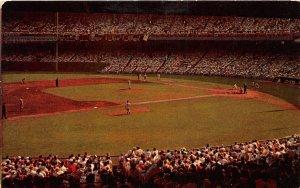 G80/ New York City NYC Postcard Chrome Polo Grounds Baseball Stadium 2