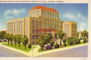 MARICOPA COUNTY COURT HOUSE AND CITY HALL PHOENIX, AZ completed in 1929