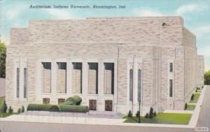 Indiana Bloomington The Auditorium Indiana University Curteich