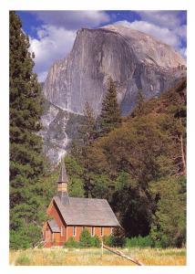 Yosemite National Park California, USA Postcard, Yosemite Valley Chapel X39