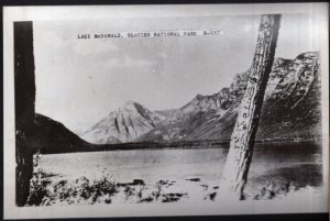 Montana Lake McDonald GLACIER NATIONAL PARK - RPPC by Cecil C. Nixon