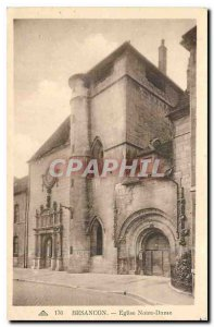 Postcard Besancon Old Church of Our Lady