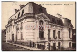 Old Postcard Bank Decize Caisse d & # 39Epargne City Hotel