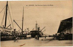 VIETNAM INDOCHINE - Saigon - les Nouveaux Quais et les Docks (190322)