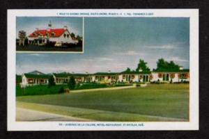 PQ Auberge de la Colline Motel ST NICOLAS QUEBEC CANADA QC Carte Postale