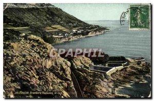 Old Postcard Menton Border Italian Cape