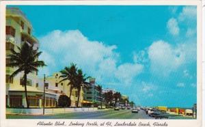 Florida Fort Lauderdale Atlantic Boulevard Looking North 1960