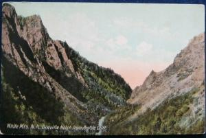 Dixville Notch From Profile Cliff White Mountains NH 1911 Hugh C Leighton