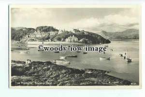 tq1295 - Sitting on the Rocks in the Harbour, at Borth-y-Gest - postcard