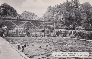 AQUILLA , Texas, 40-50s ; Girl's Swimming Pool, Latham Springs BAPTIST Encampmen