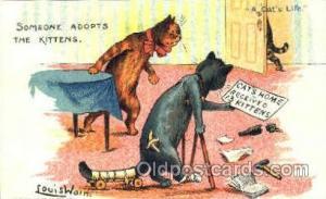 Artist Louis Wain Cat Cats Postcard Post Card  Artist Louis Wain Cat Cats Pos...