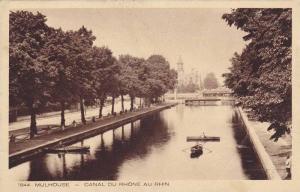Mulhouse (Haut-Rhin) - Canal du Rhone au Rhin France, 1910s