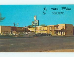 Unused Pre-1980 OLD CARS & TRAVELODGE MOTEL Fallon Nevada NV u2869