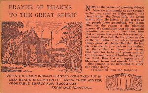 Indian Post Card Prayer of Thanks to the Great Spirit Colorado, USA Postcard ...