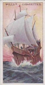 Wills Vintage Cigarette Card Celebrated Ships No 38 The Matthew  1911