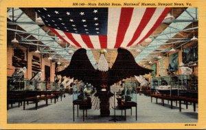 Virginia Newport News Main Exhibit Room Mariner's Museum 1949 Curteich