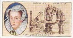 Mitchell Vintage Cigarette Card Famous Scots No 11 Mary Queen Of Scots 1542-1587