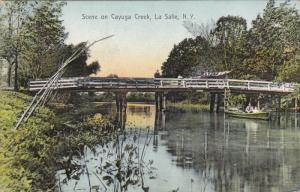 LA SALLE, New York; Scene on Cayuga Creek, Bridge, PU-1913