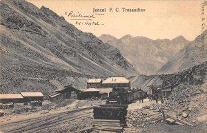 Juncal FC Trasandino Railroad and Hotel Vintage Postcard AA9775