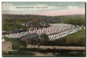 Old Postcard Camp coutine appearance tents