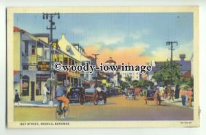 ft1439 - Bahamas - Bay Street , Nassau - postcard