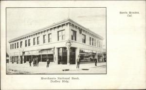 Santa Monica CA Merchants National Bank c1905 Postcard jrf