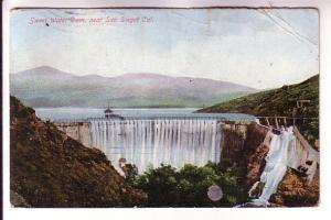 Falls at Sweet Water Dam near San Diego, California, EP Charlton, Printed in ...