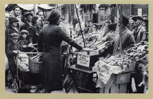 Nostalgia Postcard WW2 Lambeth Walk Spitfire Fund 1940 Reproduction Card NS36