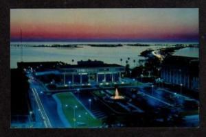 FL Night Dusk City Hall CLEARWATER FLORIDA Postcard PC