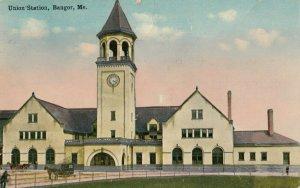 BANGOR , Maine, 1915 ; Union Railroad Train Station