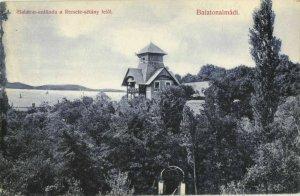 hungary, BALATONALMÁDI, Balaton-Szálloda a Remete-Sétány Felöl (1910s) Postcard