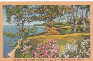 Michigan Greetings From Paw Paw Lake 1956