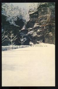 Watkins Glen,New York/NY Postcard, Winter At Entrance Tunnel