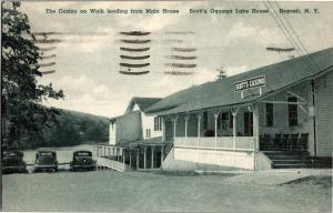 The Casino at Scott's Oquaga Lake House Deposit NY c1942 Vintage Postcard P13