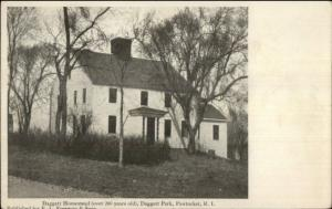 Pawtucket RI Daggett Homestead c1910 Postcard