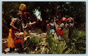 Postcard CA Anaheim Disneyland Adventureland Headhunter Country Jungle Boat A11