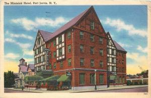 Port Jervis New York~Minisink Hotel~Restaurant~Tap Room~House Next~1940s Linen