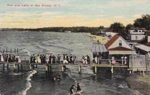 Pier at Lake Ontario - Sea Breeze, Rochester, New York - pm 1913 - DB
