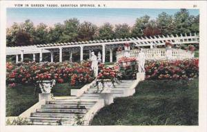 New York Saratoga Springs View In Garden Yaddo